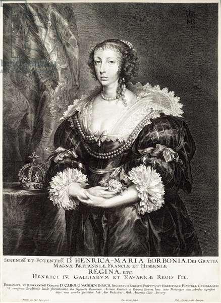 Portrait of Queen Henrietta Maria de Bourbon