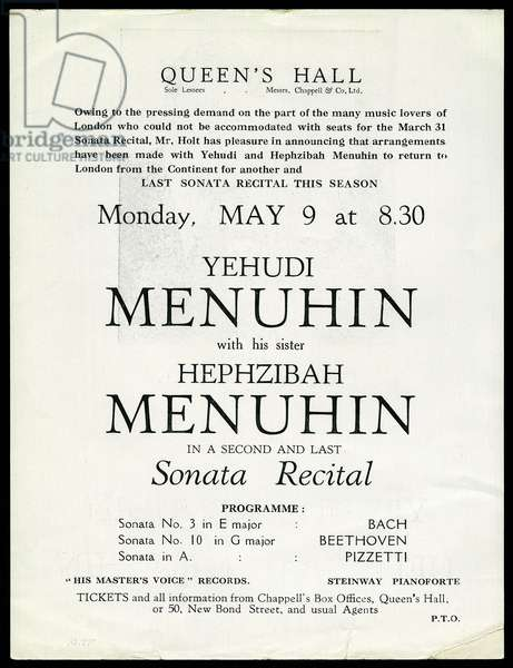 Menuhin concert poster