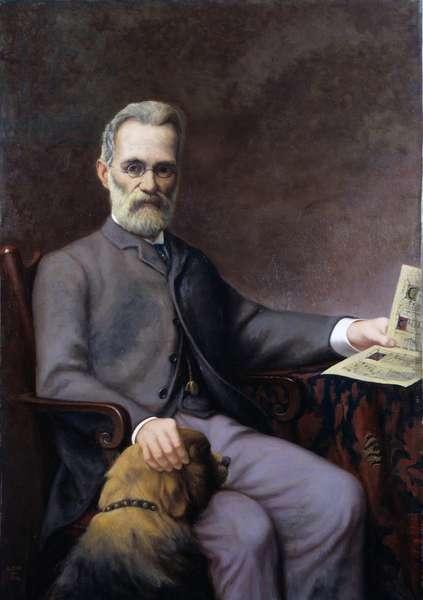 Alfred Piatti with dog