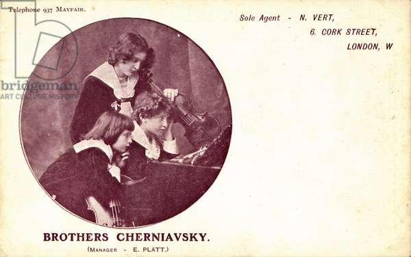 Brothers Cherniavsky as children