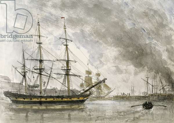 'Barque Free Trader', William Crotch.