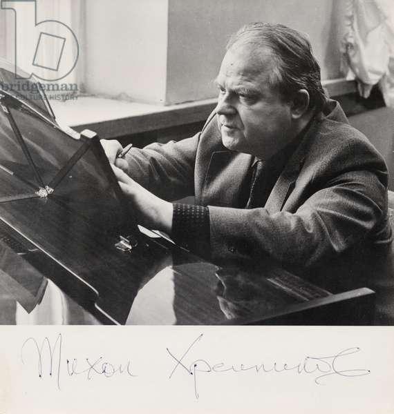Tikhon Nikolaievich Khrennikov writing