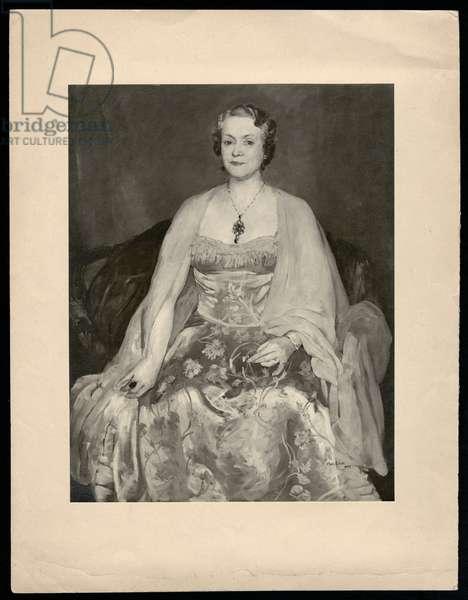 Portrait of Lady Jessie Wood, 1933 (oil on canvas)
