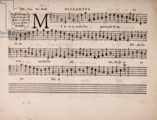 partbooks. Cantiones, 1575. Discantus 34.