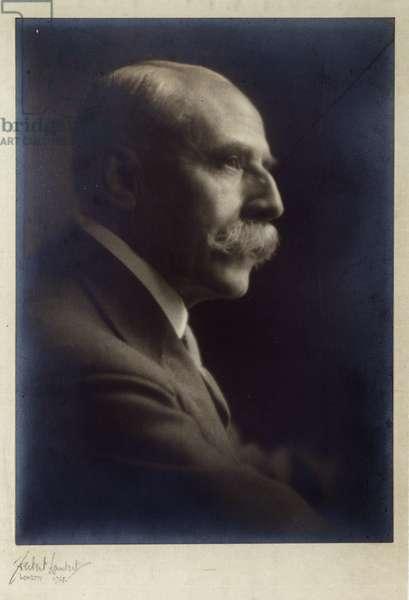 Portrait of Edward Elgar, 1921.