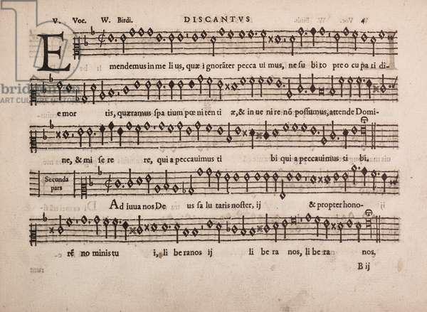 partbooks, Cantiones, 1575. Discantus 4.