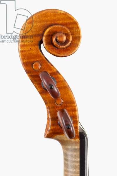 Violin (scroll), Cremona, 'Maurin', 1718