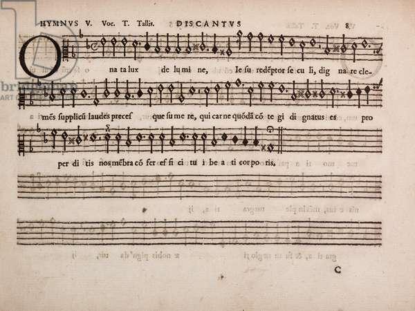 partbooks. Cantiones, 1575. Discantus 8