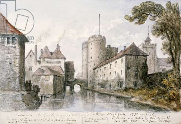'Entrance to Canterbury' by William Crotch, 1838.
