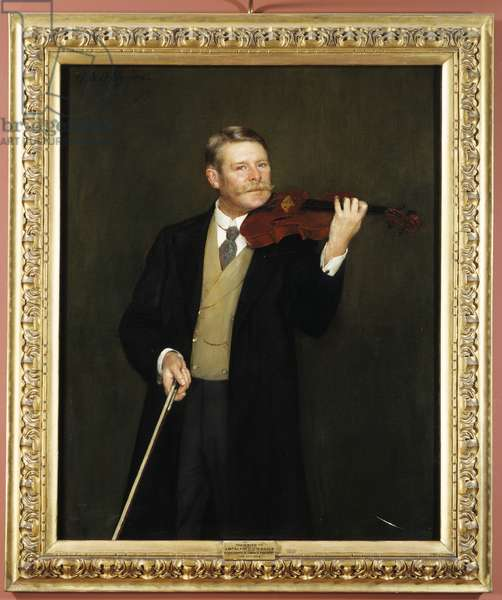 Alfred Gibson holding violin