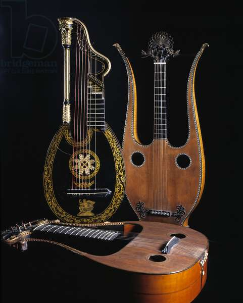 Harp lute and lute