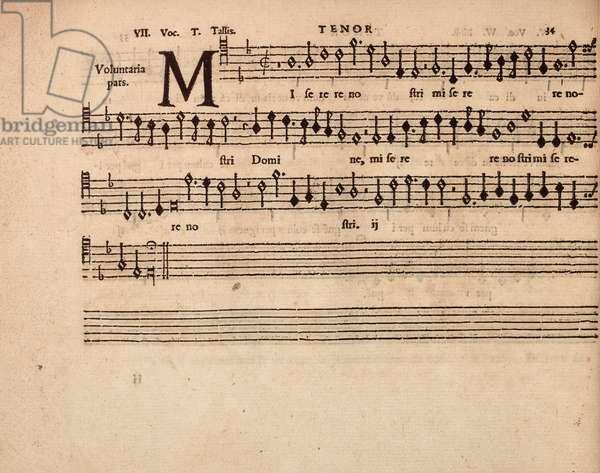 partbooks. Cantiones, 1575. Tenor 34.