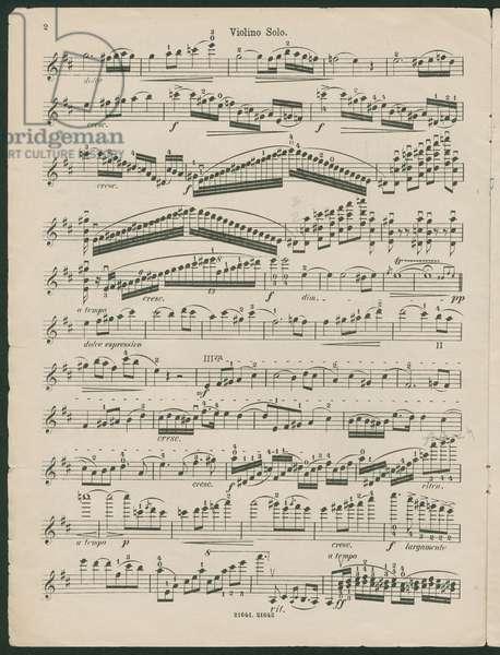 Paganini Violin Concerto No 1, op 6