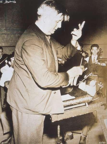 BUSCH Fritz conducting German