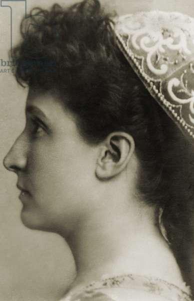 Nellie Melba profile portrait