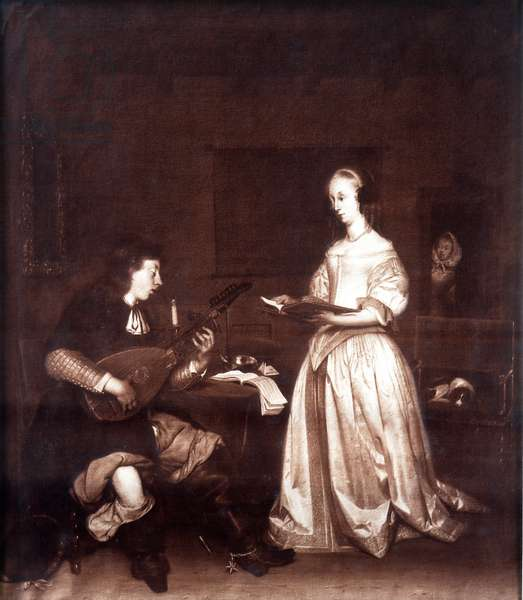 The Duet: a singer and a lute player.