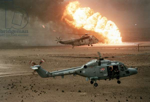 Sea King 846 and Lynx Brilliant during Operation Granby (photo)