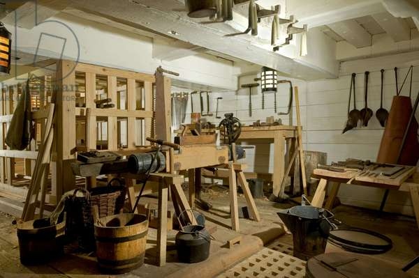 Carpenter's Workshop and Storeroom on the Orlop Deck of HMS Victory, 2013 (photo)
