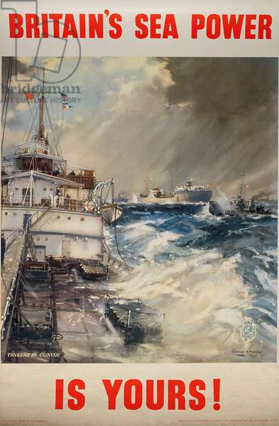 'Britain's Sea Power is Yours!', WWII poster, 1945 (colour litho)