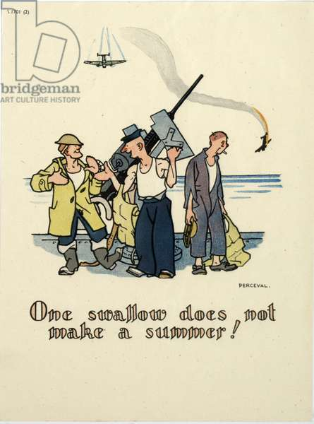 One swallow does not make a summer!, 1939-45 (colour litho)