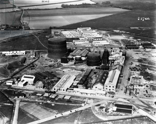Air Station 290, Kingsnorth, 1917 (b/w photo)