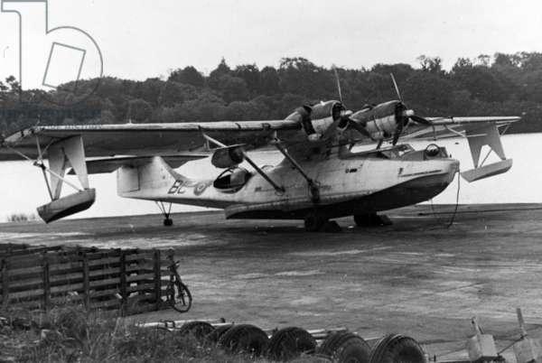 Catalina 003, Lough Erne, 1945 (b/w photo)