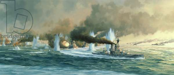 'Windy Corner', The Battle of Jutland, 31st May-1st June 1916, 1986 (oil on canvas)