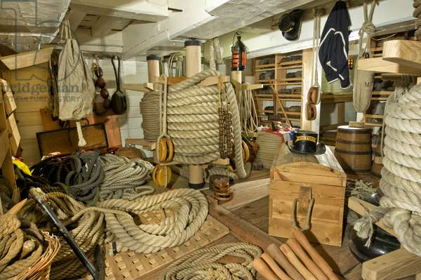 Rope Store on HMS Victory, 2013 (photo)