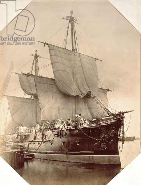 HMS Triumph, 1870 (sepia photo)
