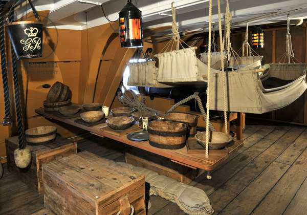 The Mess Deck on board HMS Victory, 2013 (photo)