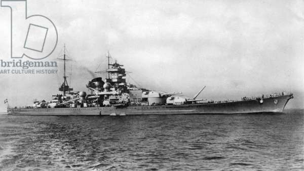 German battleship Scharnhorst, 1936 (b/w photo)