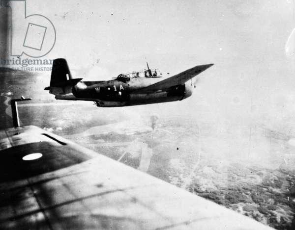857 Squadron in Palembang (b/w photo)