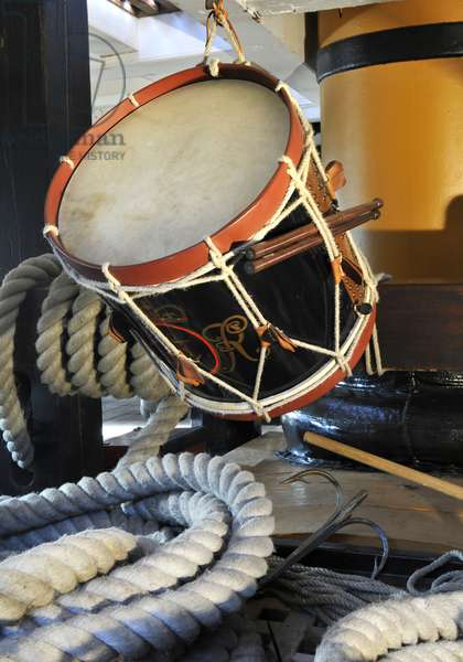 Drum on HMS Victory, 2013 (photo)