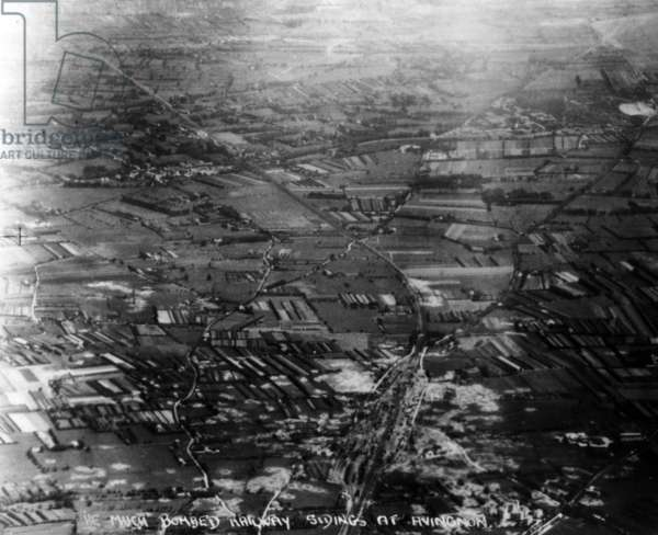 Operation Dragoon, aerial view of Avignon, 1944 (b/w photo)