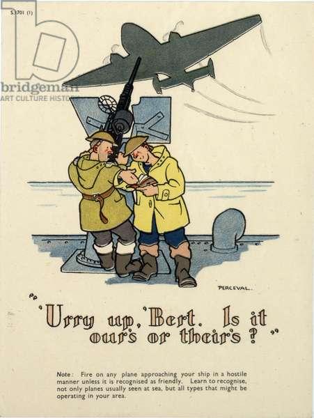 'Urry up Bert', 1939-45 (colour litho)