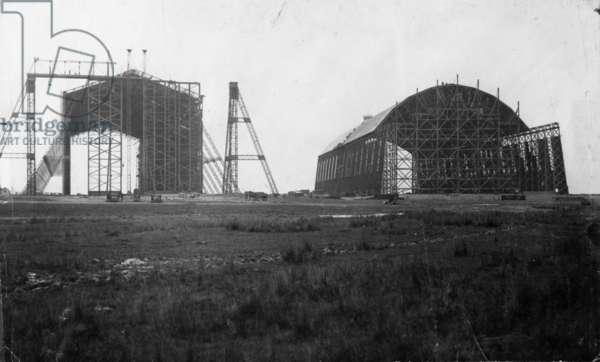 Air Station 326, Kingsnorth, April 1914 (b/w photo)