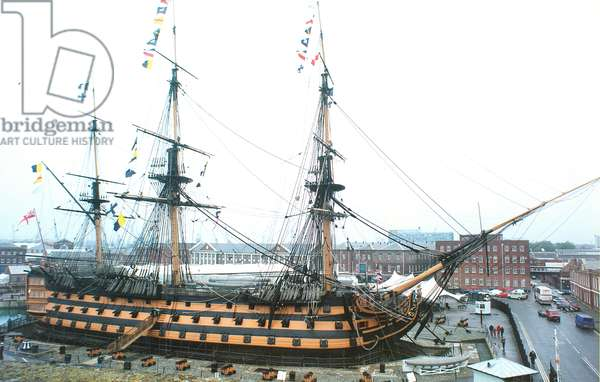 HMS Victory at Portsmouth Dockyard, 1999 (photo)