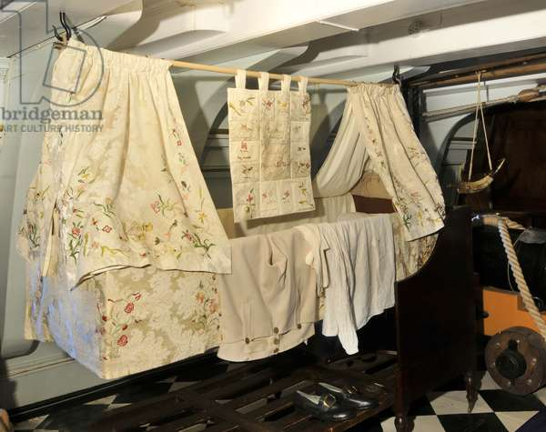 Nelson's Cot on HMS Victory, 2013 (photo)