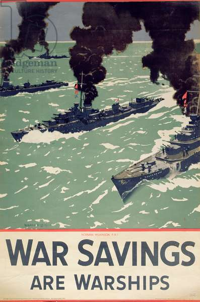 'War Savings Are Warships', WWII poster, c.1945 (colour litho)