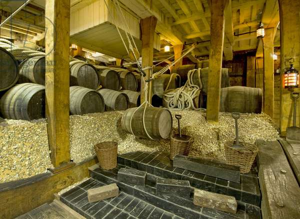 Ballast in the Hold of HMS Victory, 2013 (photo)