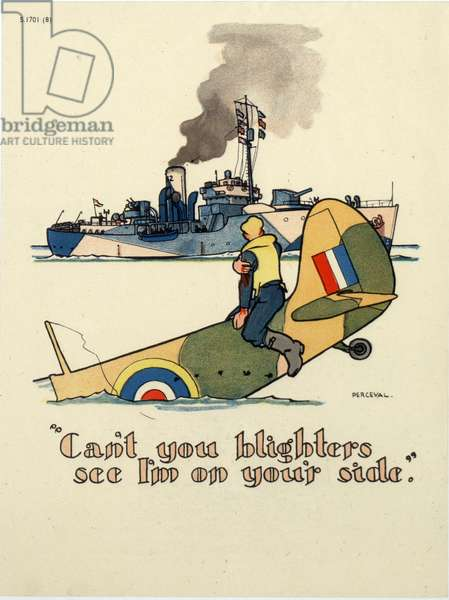 'Can't you blighters see I'm on your side', 1939-45 (colour litho)