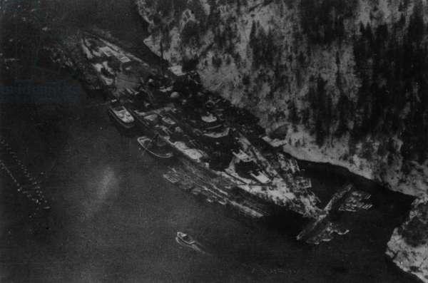 Campaign 267 (Tirpitz) (b/w photo)