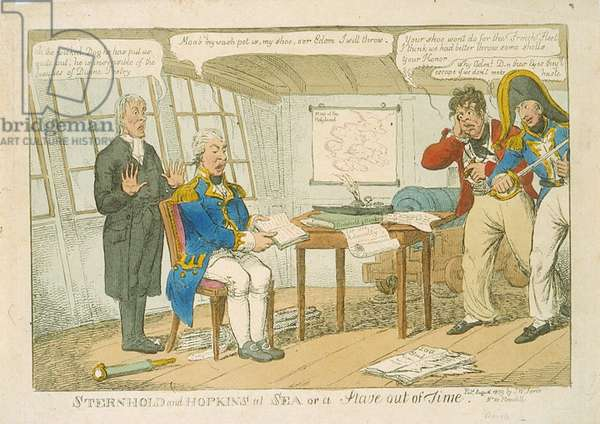 Sternhold and Hopkins at Sea or a Stave out of Time, 1809 (colour etching)