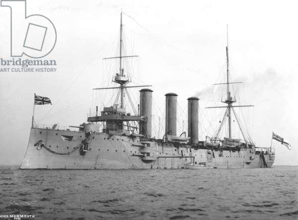 HMS Monmouth, 1901 (b/w photo)