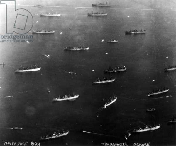 Dragoon Aerial - Cavalaire Bay, 1944 (b/w photo)
