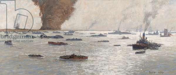 Dunkirk Operation 'Dynamo', 26 May–4 June 1940 (oil on board)