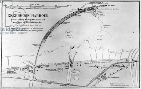 Plan of Zeebrugge Harbour, 1918 (litho)