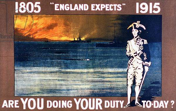 'England Expects - Are you doing your duty today?', WWI poster (colour litho)