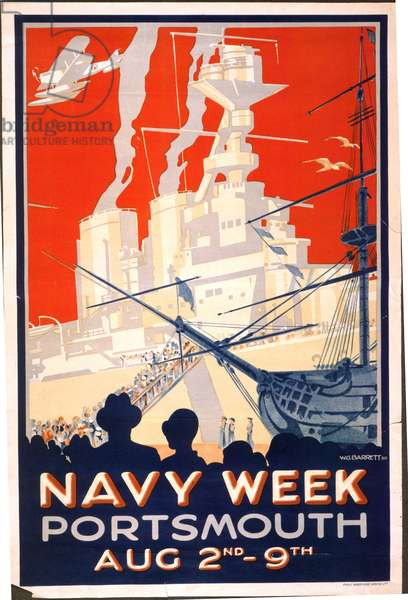 Navy Week Portsmouth Aug 2nd - 9th, 1930 (colour litho)