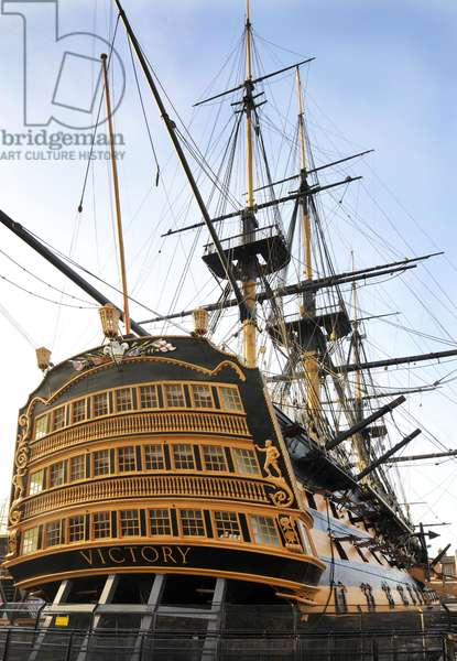 Stern of HMS Victory, Portsmouth Dockyard, 2013 (photo)